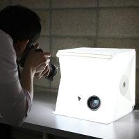 携帯型組立式スタジオ照明キットfoldio2フォルディオ【送料無料】スマホ撮影キレイ商品画像撮影照明携帯スタジオオークションモール出品