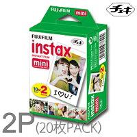チェキフィルム20枚INSTAXMINI2PFUJIFILMチェキ用フィルム10枚撮り2本パック