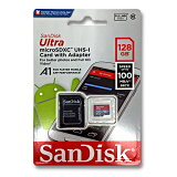 SanDisk マイクロSDカード 128GBmicroSDXC クラス10 UHS-I100MB/s 667X A1対応SDSQUAR-128G-GN6MA