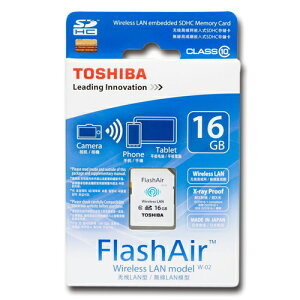 16GB Class10 SDHCカード Wi-fi ワイヤレス Wireless TOSHIBA Flash Air トーシバ ハチギガ ク...