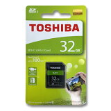 東芝 SDカード 32GBSDHC クラス10 UHS-I 100MB/sTHN-N203R0320A4