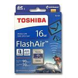 東芝 フラッシュエアー 16GB無線LAN搭載 SDHCカード Flash AirW-04 第4世代