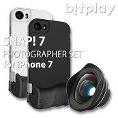 bitplaySNAP!7foriPhone7PHOTOGRAPHERSETiPhone7用物理シャッターボタン搭載ケース+HDワイドレンズ+レンズケース
