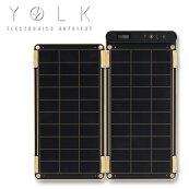 モバイルバッテリーYOLKソーラー充電器SolarPaper5Wソーラーパネル太陽光発電バッテリーiPhoneスマートフォンアウトドア野外フェスキャンプ防災