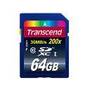SDカード 64GB クラス10 トランセンドTranscend TS64GSDXC10 200x【送料無料/メール便】SDXCカード Premium 64ギガ CLASS10 メモリ