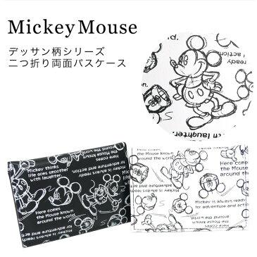 ミッキーマウス 二つ折りパスケース 定期入れ 定期券入れ カードケース カード入れ ディズニー ミッキー 日本製【ネコポス届け】 【05P03Dec16】