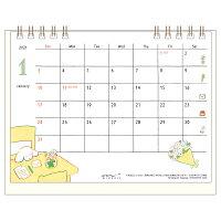ミドリ カレンダー 2021年 卓上 リング M イヌ柄