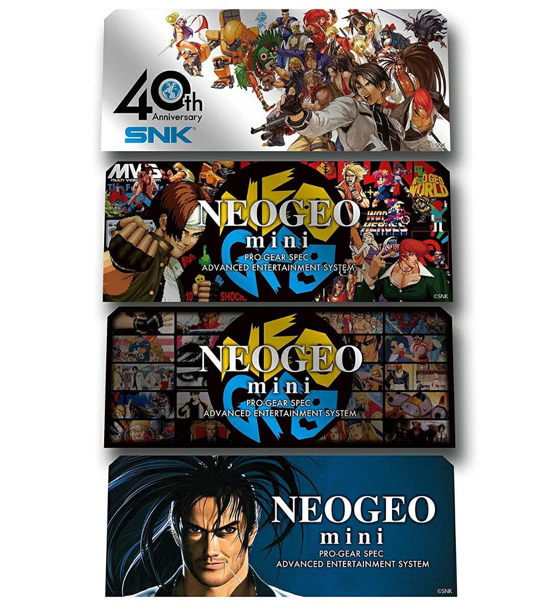 テレビゲーム, その他 NEOGEO mini Character Stickers4pcs