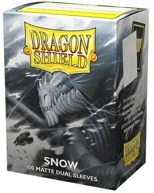 AT-15005 ドラゴンシールド マット スタンダードサイズ デュアルマット スノウ(Snow)(100枚入)
