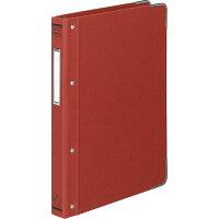 コクヨ ファイル バインダー 布貼 B5 縦 角金付 26穴 100枚収容 赤 ハー110R