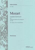 【輸入楽譜】モーツァルト, Wolfgang Amadeus: 証聖者の荘厳な晩課(ヴェスペレ) KV 339より ラウダ・ドミヌス