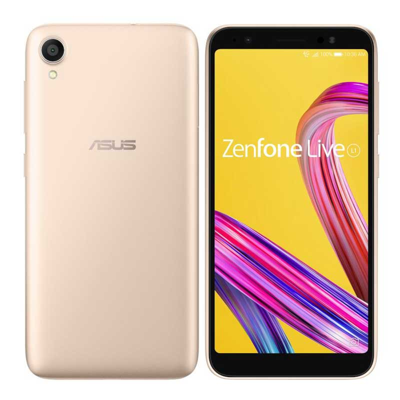 Zenfone Live L1 Series ( 5.5インチ / Android8.0 / ROM:32GB / RAM:2GB / シマーゴールド ) ZA550KL-GD32