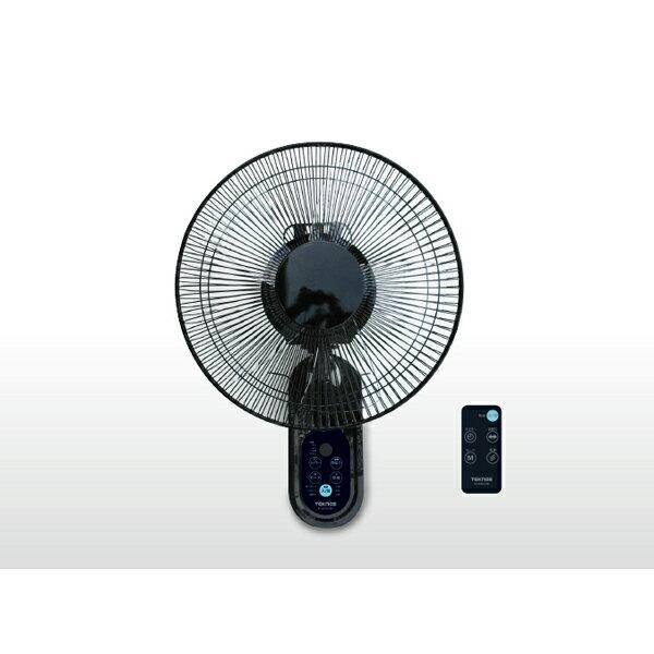 TEKNOS 壁掛け扇風機 30cm フルリモコン・黒 フラットガード KI-W302RK