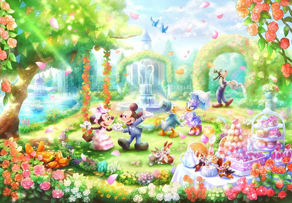 バラの香りのガーデンパーティー(ミッキー&フレンズ) 1000ピース
