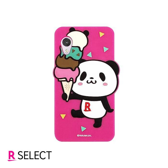 Rakuten Mini お買いものパンダ シリコンケース ピンク