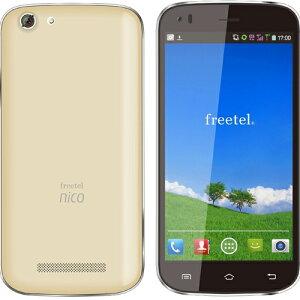 freetel SIMフリー スマートフォン Nico シャンパンゴールド FT141B_NICO_CG (Android 4.4 / 5.0inch / 標準 SIM Dual SIM )