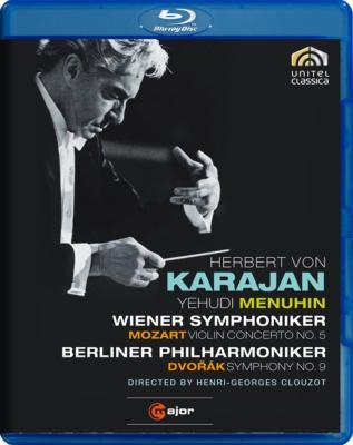 【輸入盤】ドヴォルザーク:『新世界より』、モーツァルト:『トルコ風』 クルーゾー監督、カラヤン&ベルリン・フィル、メニューイン、ウィーン響画像