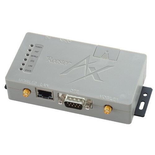 マルチキャリア対応 LTE通信モジュール搭載 小容量データ通信向けダイヤルアップルータ ACアダプタ・アンテナ2本セットモデル Rooster AX220-SET1