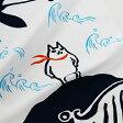 手ぬぐい猫と鯨
