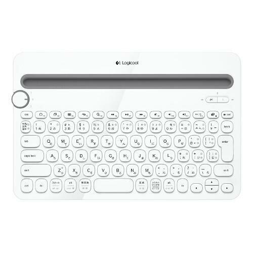 ロジクール Bluetoothマルチデバイスキーボード k480 ホワイト