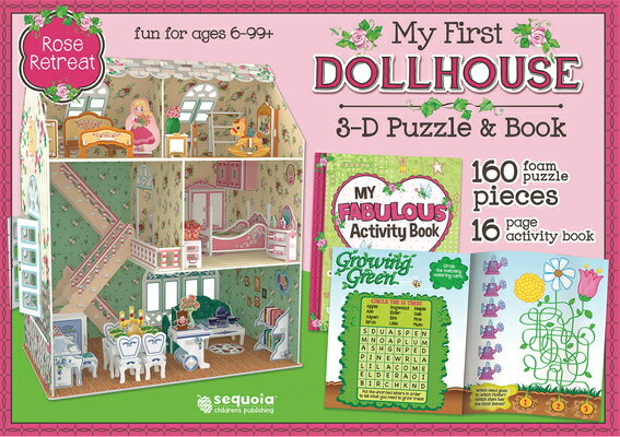 Rose Retreat: My First Dollhouse 3D Puzzle and Book [With Book(s)]画像
