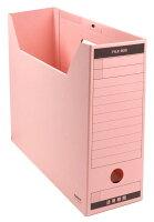 コクヨ ファイルボックス 色厚板紙 フタ付き A4 ピンク A4-LFBN-PZ