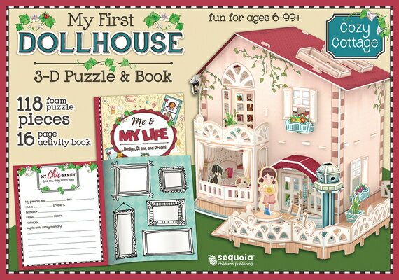 Cozy Cottage: My First Dollhouse 3D Puzzle and Book [With Book(s)]画像