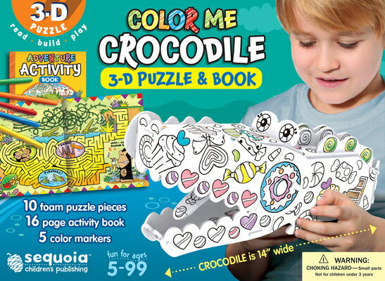 Color Me Crocodile: 3D Puzzle and Book [With Book(s)]画像