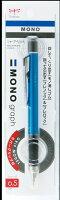トンボ鉛筆 シャープペン MONO モノグラフ ラバーグリップ付 ライトブルー DPA-141B