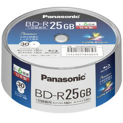 Panasonic 録画用6倍速ブルーレイディスク片面1層25GB(追記型) スピンドル30枚パック
