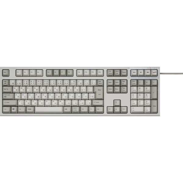 REALFORCE SA R2 日本語 フルキーボード(112配列+APC機能+静音):アイボリー