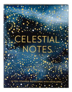 Celestial Notes: 16 Foil-Stamped Notecards with Envelopes (Celestial Star Stationery, Space and Gala CELESTIAL NOTES [ Yao Cheng ]