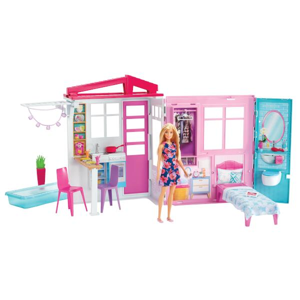 バービーかわいいピンクのプールハウス