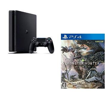 PlayStation4 ジェット・ブラック 500GB + モンスターハンター:ワールド セット