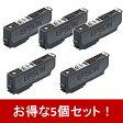 【お得な5個セット】ICBK80L リサイクルインクカートリッジ黒色(染料)
