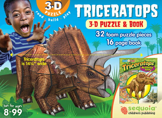 Triceratops: 3D Puzzle and Book [With Book(s)]画像