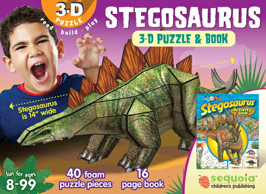 Stegosaurus: 3D Puzzle and Book [With Book(s)]画像