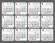 何度でも貼ってはがせるシールカレンダー(2017)