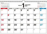 書き込み式シンプルカレンダー(A3ヨコ)(2018)