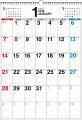 書き込み式シンプルカレンダー(B3タテ)(2018)