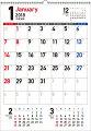 書き込み式シンプルカレンダー(A2タテ)(2018)