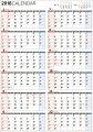 書き込み式1年カレンダー(A2)(2018)