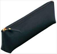 グロワール 革製ペンケース(三角) ブラック