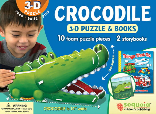 Crocodile: Wildlife 3D Puzzle and Books [With Book(s)]画像