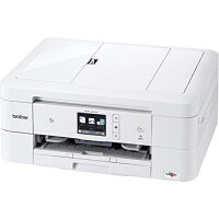 brother A4インクジェット複合機 PRIVIO DCP-J973N-W(白モデル/10/12ipm/両面印刷/有線・無線LAN/ADF/手差し/レーベル印刷)