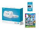 【送料無料】Wii U ベーシックセット+Wii U GamePad 画面保護シート+New スーパーマリオブラ...