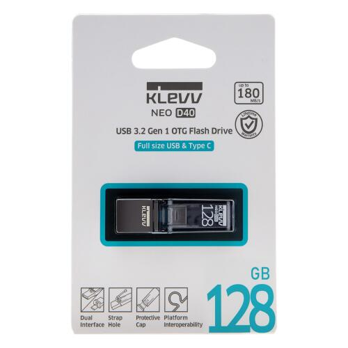 【KLEVV】NEO D40 USB3.2 Gen1 USB Type-A & Type-C 128GB