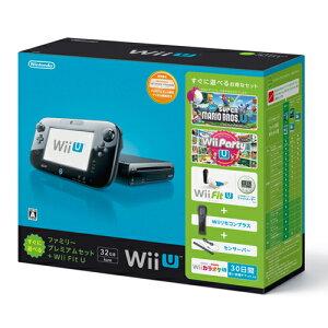 【送料無料】Wii U すぐに遊べるファミリープレミアムセット+Wii Fit U(クロ)
