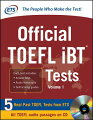 OFFICIAL TOEFL IBT TESTS VOL.1(P W/CD)