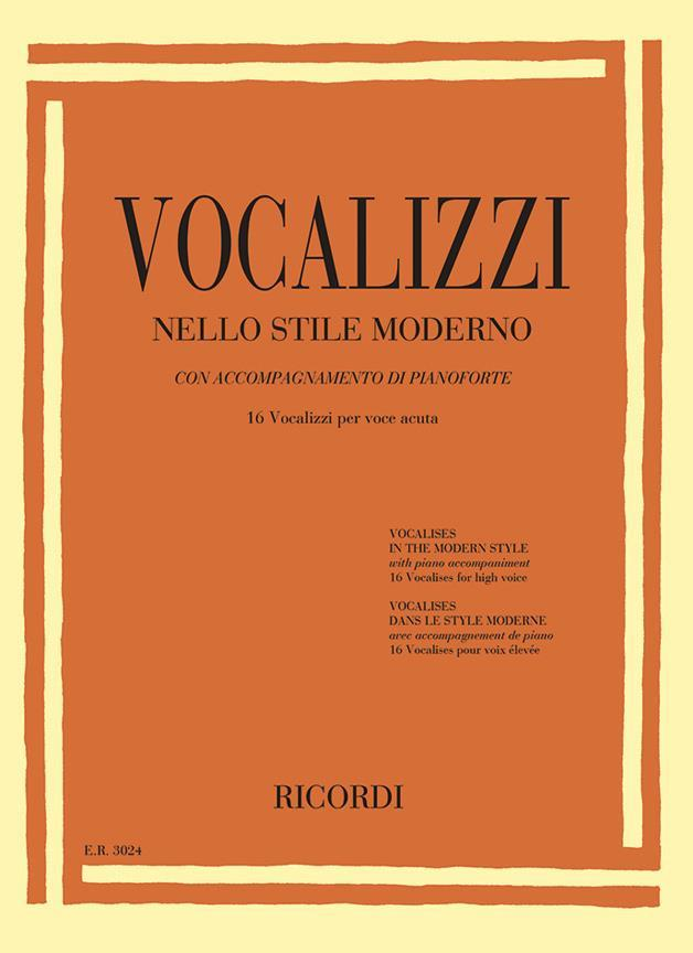 【輸入楽譜】近代的なヴォカリーズ: 16 Vocalizzi Per Voce Acuta(高声用)画像